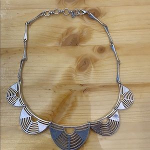 Lucky brand scalloped silver necklace
